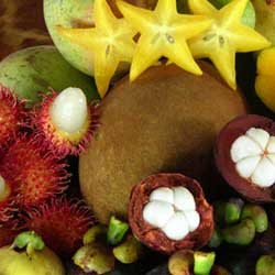 Star Anise Custards with Exotic Fruit