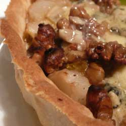 Stilton and Walnut Tart Recipe