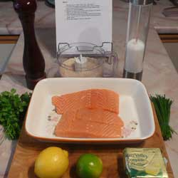 Salmon with Citrus Herb Crumb Topping