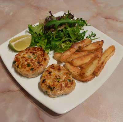 Crab and prawn fish cakes recipe